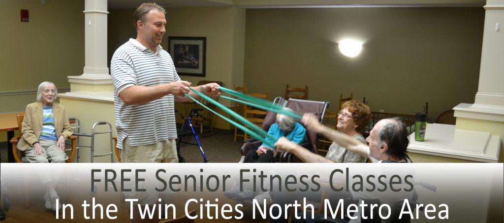 FREE senior fitness classes in the Twin Cities North Metro