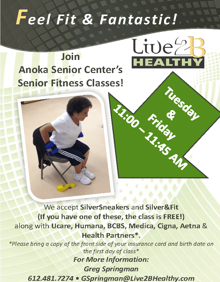 2016 Anoke Senior Center meeting poster