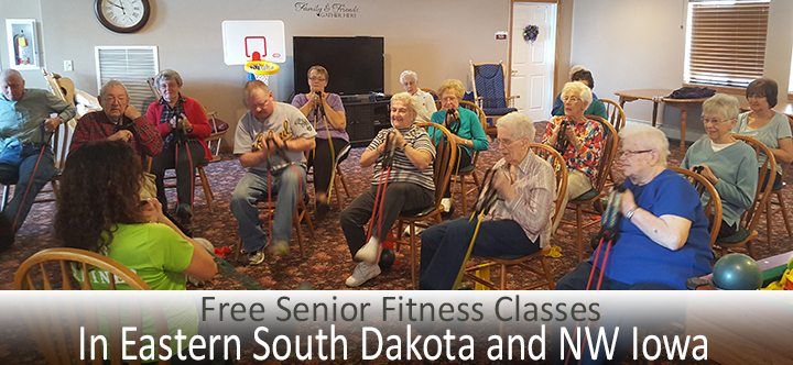 FREE senior fitness classes in the Eastern South Dakota and NW Iowa region.